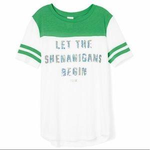VS PINK 'Let the Shenanigans begin' Bling Tee ✨🍀